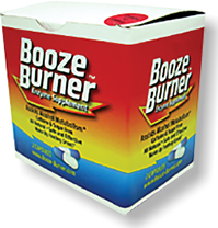 Booze Burner 12-packet box, the most economical way to order.